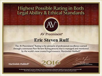AV Award for Bankruptcy Attorney in Gainesville Florida