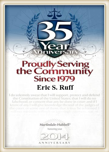 35 Year Service Award for Eric S. Ruff