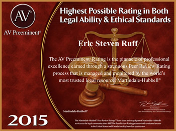 Highest Possible Rating for Eric S. Ruff Bankruptcy Attorney Gainesville