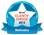 August 15, 2013, Avvo.com awards Ruff & Cohen award for 2013 Client Choice for Bankruptcy Law