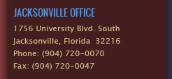 Jacksonville Office Location - (904) 720-0070