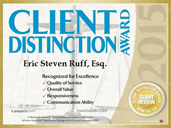 Client Distinction Award for Eric Ruff
