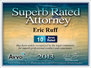 2013 Superb Rated Bankruptcy Attorney Award
