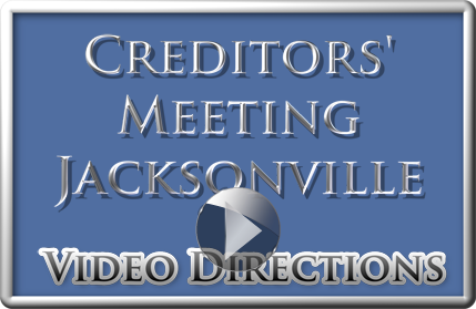 Video How to Get to the Bankruptcy Creditors Meeting in Jacksonville, animated map and photos ease the stress of travel to this important meeting in an unfamiliar large city